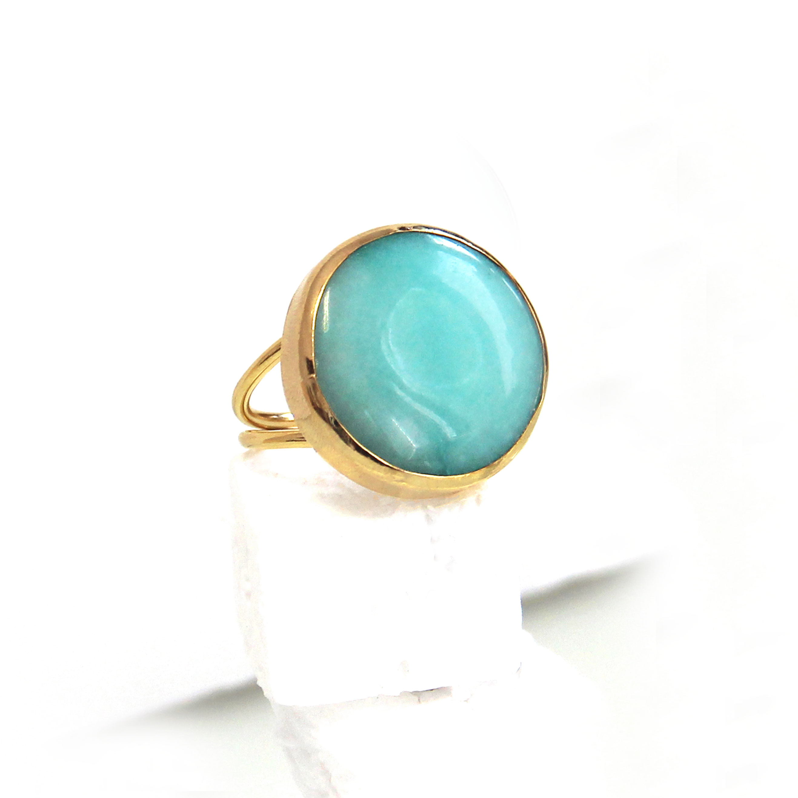quite silver becoming mohave teal pin simple rings turquoise setting bezel green natural ring is